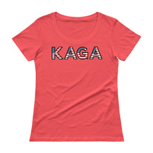 Load image into Gallery viewer, KAGA, Trump, Conservative, Patriotic, Womens T Shirt, Ladies' Scoopneck T-Shirt - More94, Trump, Republican, Conservative, GOP, Patriotic Clothing