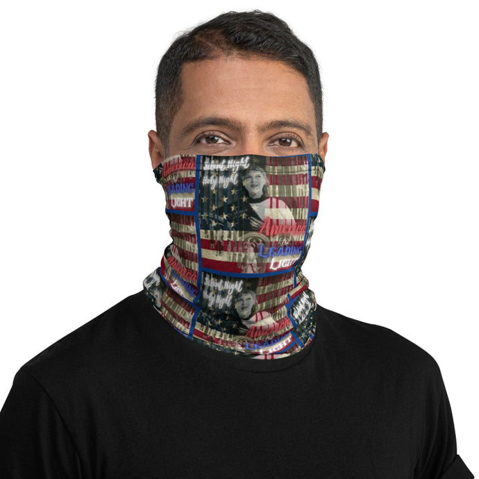 Silent Night Holy Night America The Leading Light, Face And Neck Gaiter