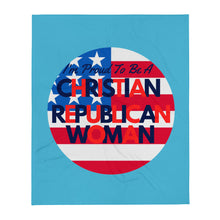 Load image into Gallery viewer, Christian, Republican Woman Throw Blanket - More94, Trump, Republican, Conservative, GOP, Patriotic Clothing