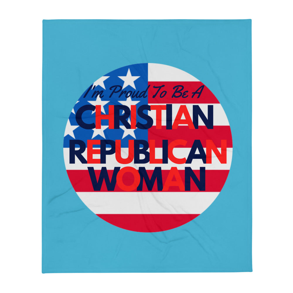 Christian, Republican Woman Throw Blanket - More94, Trump, Republican, Conservative, GOP, Patriotic Clothing