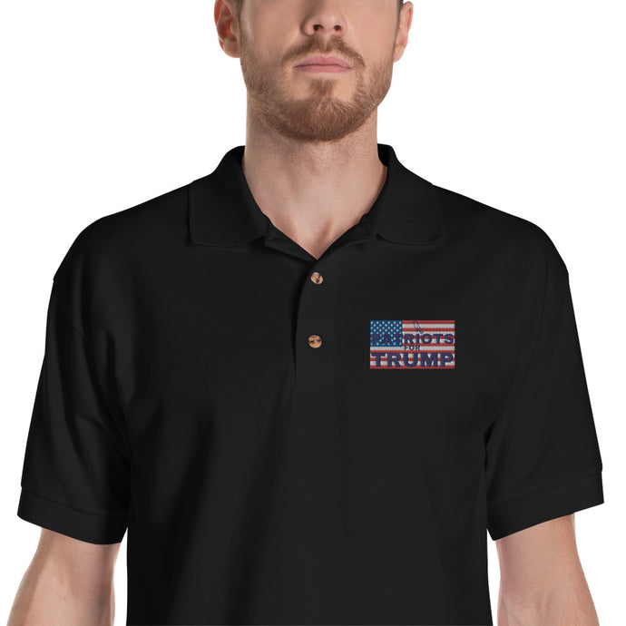 Trump, Patriot, America, GOP, Mens Polo, Embroidered Polo Shirt - More94, Trump, Republican, Conservative, GOP, Patriotic Clothing