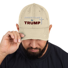 Load image into Gallery viewer, Trump, Christians, GOP, Patriot, Dad Cap, Dad Hat, Distressed Dad Hat - More94, Trump, Republican, Conservative, GOP, Patriotic Clothing