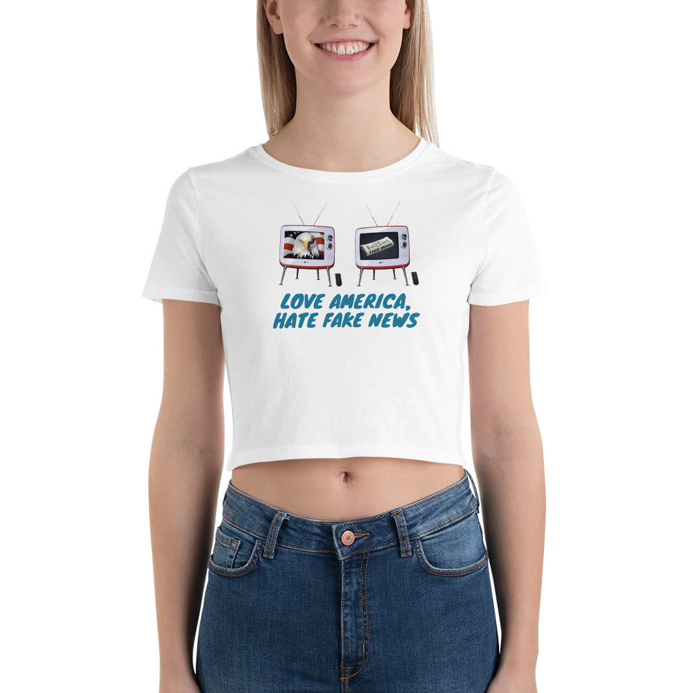 Conservative, Republican, GOP Shirt, Women's Crop Tee - More94, Trump, Republican, Conservative, GOP, Patriotic Clothing, Apparel.