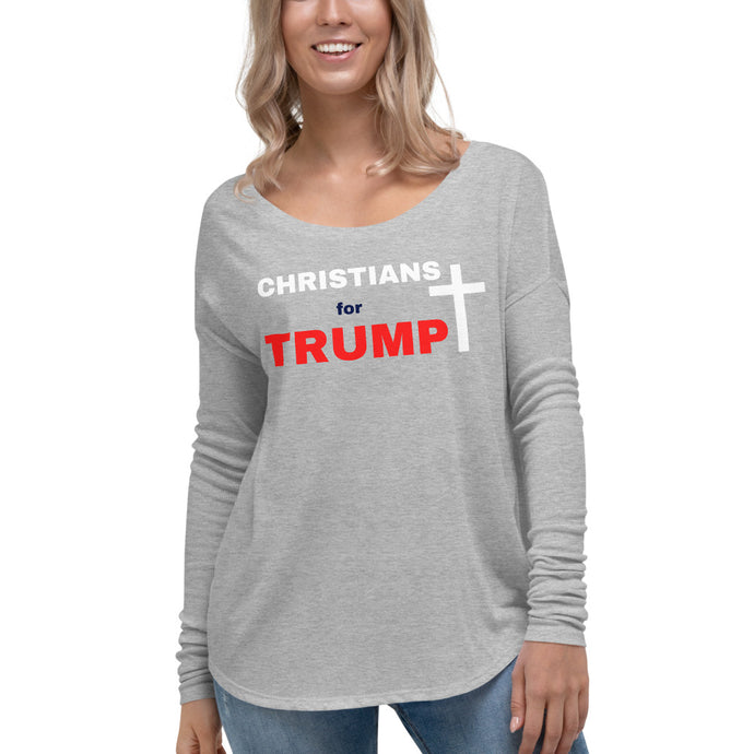 Christian, Trump, Patriots, Conservative, Womens Long Sleeve T Shirt, Tee - More94, Trump, Republican, Conservative, GOP, Patriotic Clothing