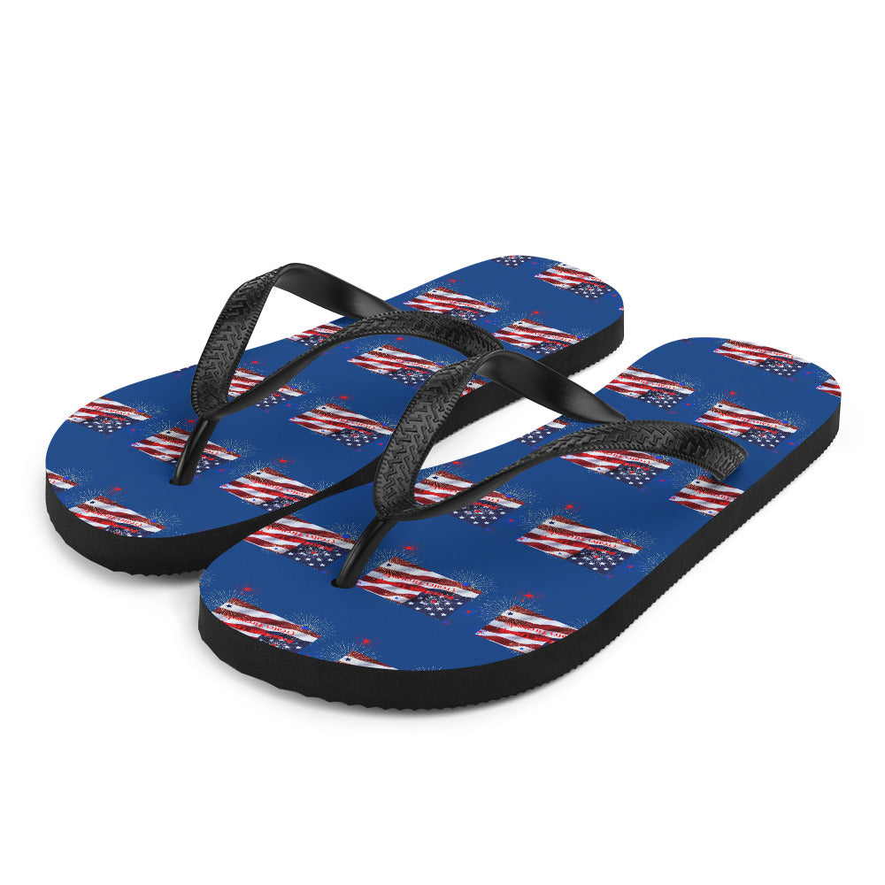 Trump, Republican, GOP Flip Flops, Slippers - More94, Trump, Republican, Conservative, GOP, Patriotic Clothing