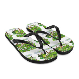 American, USA, Trillion Trees Flip-Flops, Slippers - More94, Trump, Republican, Conservative, GOP, Patriotic Clothing