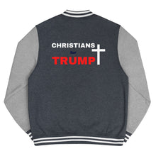 Load image into Gallery viewer, Christian, Republican, Conservative, Patriot, Mens Jacket, Letterman Jacket - More94, Trump, Republican, Conservative, GOP, Patriotic Clothing