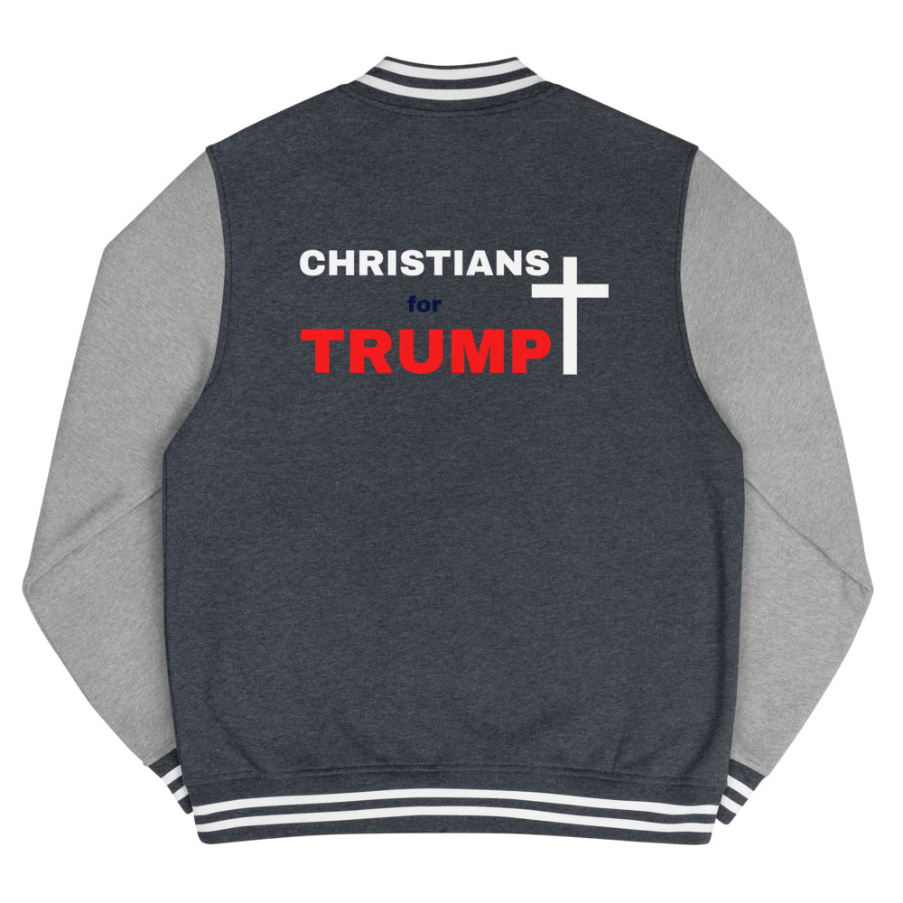 Christian, Republican, Conservative, Patriot, Mens Jacket, Letterman Jacket - More94, Trump, Republican, Conservative, GOP, Patriotic Clothing