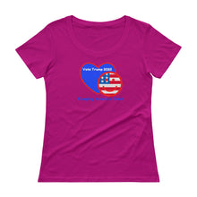 Load image into Gallery viewer, Patriots, Conservative, Republican Ladies Shirt, Scoopneck T-Shirt - More94, Trump, Republican, Conservative, GOP, Patriotic Clothing