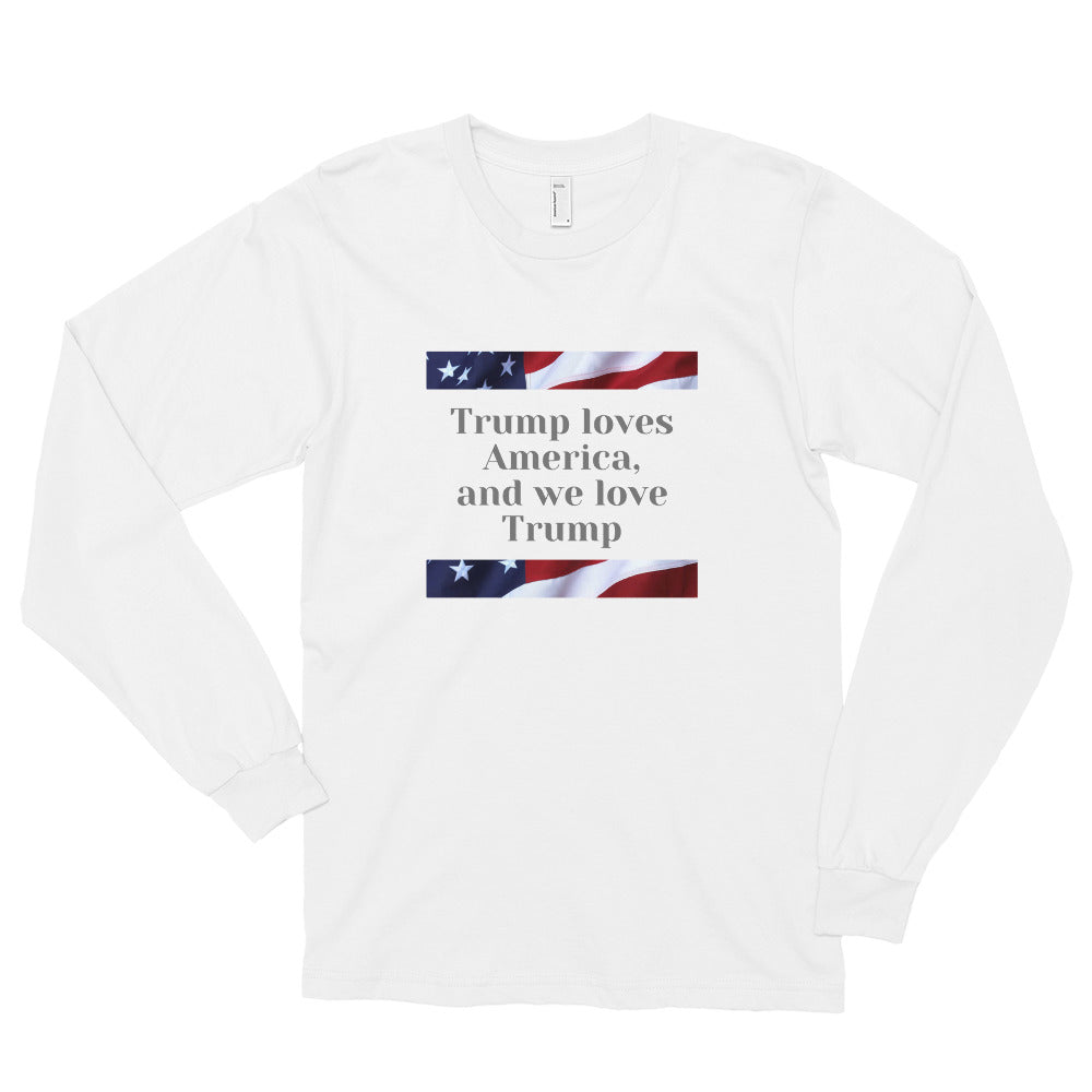 Trump, Patriots, Conservative Mens Long sleeve t-shirt, Shirt - More94, Trump, Republican, Conservative, GOP, Patriotic Clothing, Apparel.
