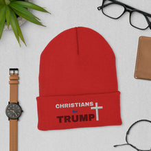 Load image into Gallery viewer, Christian, GOP, Republican USA, Patriots Beanie, Hat, Cuffed Beanie - More94, Trump, Republican, Conservative, GOP, Patriotic Clothing