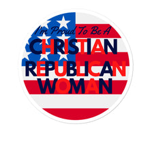 Load image into Gallery viewer, Christian Women, Republican Women, GOP Stickers - More94, Trump, Republican, Conservative, GOP, Patriotic Clothing
