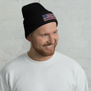 Patriot, America, USA, Beanie, Hat, Cuffed Beanie - More94, Trump, Republican, Conservative, GOP, Patriotic Clothing