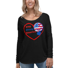Load image into Gallery viewer, USA, America, Patriots, Ladies Long Sleeve T-shirt, Womens Tee - More94, Trump, Republican, Conservative, GOP, Patriotic Clothing