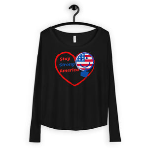 USA, America, Patriots, Ladies Long Sleeve T-shirt, Womens Tee - More94, Trump, Republican, Conservative, GOP, Patriotic Clothing