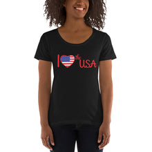Load image into Gallery viewer, USA, Patriot, Republican, Womens T Shirt, Ladies' Scoopneck T-Shirt - More94, Trump, Republican, Conservative, GOP, Patriotic Clothing
