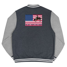 Load image into Gallery viewer, USA Flag, Christian, Trump, Patriots, Conservative Letterman Jacket, Jacket - More94, Trump, Republican, Conservative, GOP, Patriotic Clothing