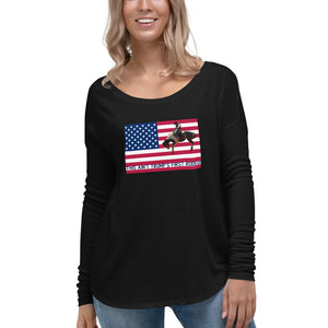 Trump, Republican, GOP Womens Long Sleeve Tee - More94, Trump, Republican, Conservative, GOP, Patriotic Clothing