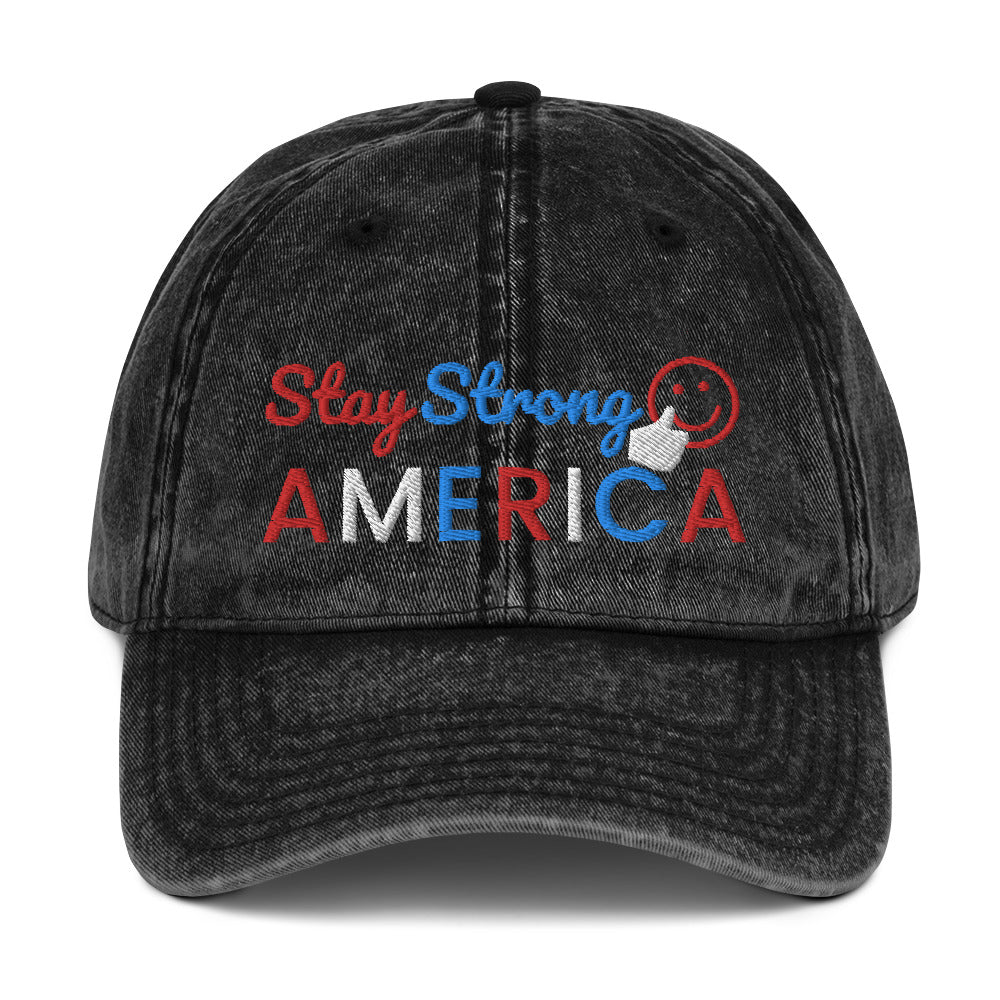America, USA, Patriotic, Hat, Cap, Vintage Cotton Twill Cap - More94, Trump, Republican, Conservative, GOP, Patriotic Clothing