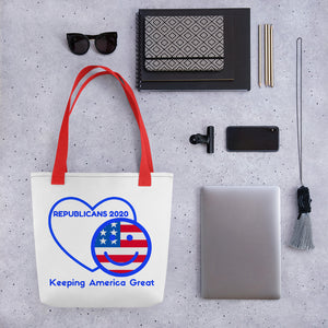 Patriots, Conservative, Republican Tote bag - More94, Trump, Republican, Conservative, GOP, Patriotic Clothing