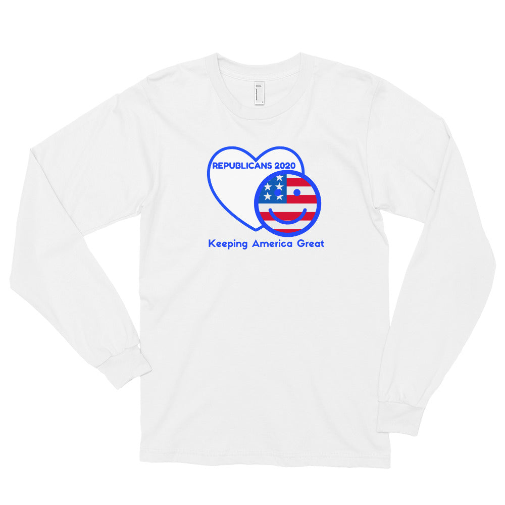 Republican, GOP, Patriotic, USA Mens Shirt, Long sleeve t-shirt - More94, Trump, Republican, Conservative, GOP, Patriot Apparel