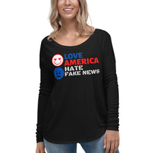 Load image into Gallery viewer, Trump, Patriots, America, Womens T-Shirt, Ladies Long Sleeve - More94, Trump, Republican, Conservative, GOP, Patriotic Clothing