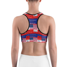 Load image into Gallery viewer, Patriots, American, USA, GOP Sports bra - More94, Trump, Republican, Conservative, GOP, Patriotic Clothing
