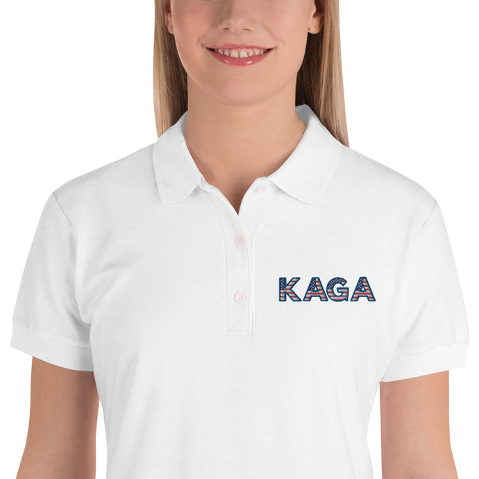KAGA, Trump, Patriots, Polo, Embroidered Women's Polo Shirt - More94, Trump, Republican, Conservative, GOP, Patriotic Clothing