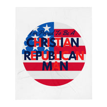 Load image into Gallery viewer, Christian, Republican, American, Trump Throw Blanket - More94, Trump, Republican, Conservative, GOP, Patriotic Clothing