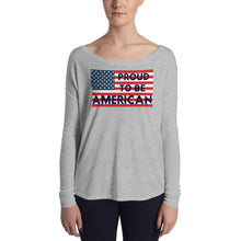 Load image into Gallery viewer, American, Patriot, Republican, Womens T-Shirt,  Ladies Long Sleeve T Shirt - More94, Trump, Republican, Conservative, GOP, Patriotic Clothing
