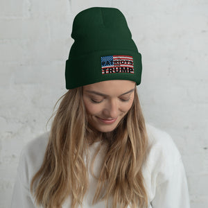 Patriots, USA, Trump, Hat, Cuffed Beanie, Beanie - More94, Trump, Republican, Conservative, GOP, Patriotic Clothing