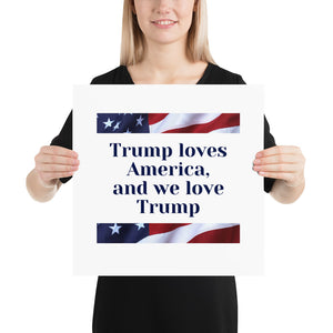 American, Trump, Conservative, GOP Poster - More94, Trump, Republican, Conservative, GOP, Patriotic Clothing