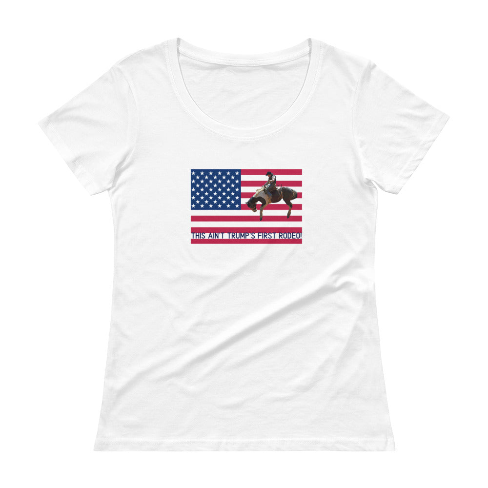 Trump, Patriots, Conservative Womens Scoopneck Shirt, T-Shirt - More94, Trump, Republican, Conservative, GOP, Patriotic Clothing, Apparel.