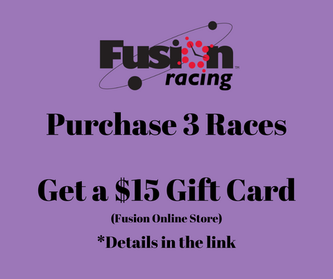 Purchase 3 Races GET a $15 gift card