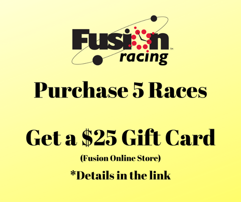 Purchase 5 Races GET a $25 Gift Card