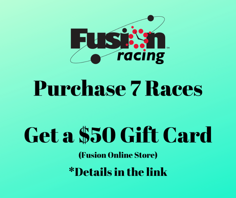 Purchase 7 Races GET a $50 Gift Card