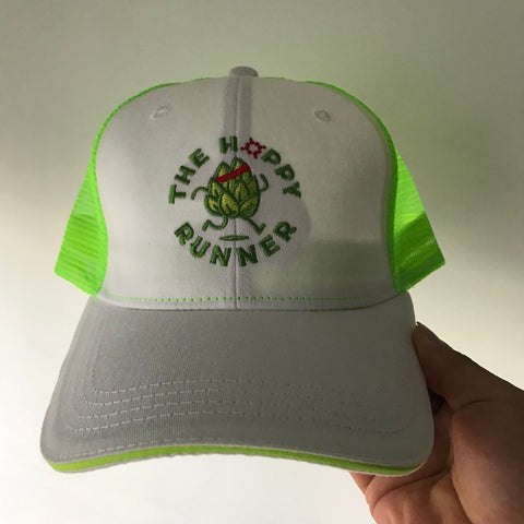 The Hoppy Runner - Trucker Hat White/Neon