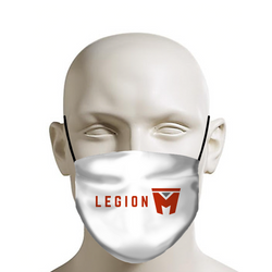 LEGION M - Face Mask - Red Logo on White