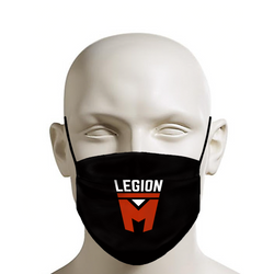 LEGION M - Face Mask - Stacked Logo on Black