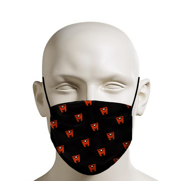 LEGION M - Face Mask - M Icon Pattern on Black
