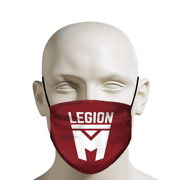 LEGION M - Face Mask - Stacked Logo on Red