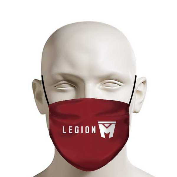 LEGION M - Face Mask - White Logo on Red