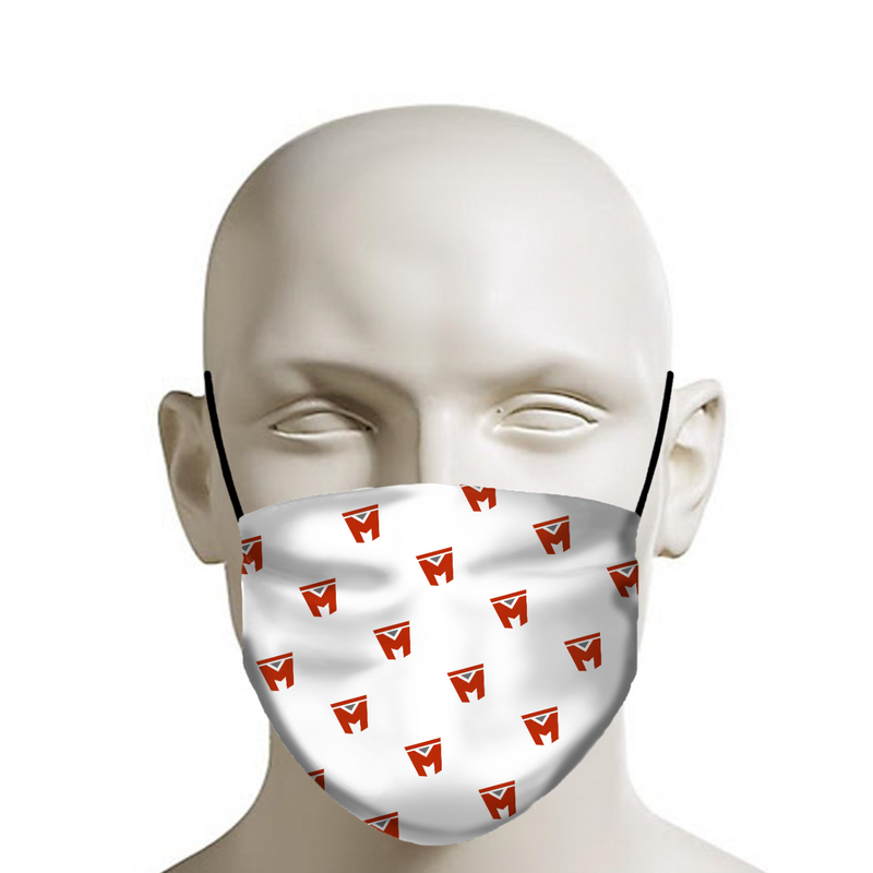 LEGION M - Face Mask - M Icon Pattern on White