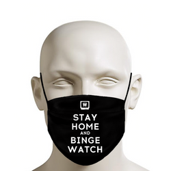 LEGION M - Face Mask - Stay Home and Binge Watch on Black