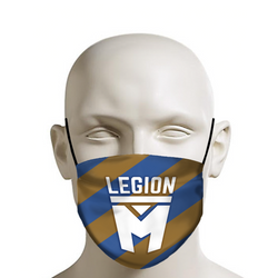 LEGION M - Face Mask - Pride (Blue/Brown)