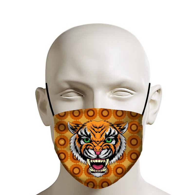 MANDY - Face Mask - Tiger Wallpaper Pattern