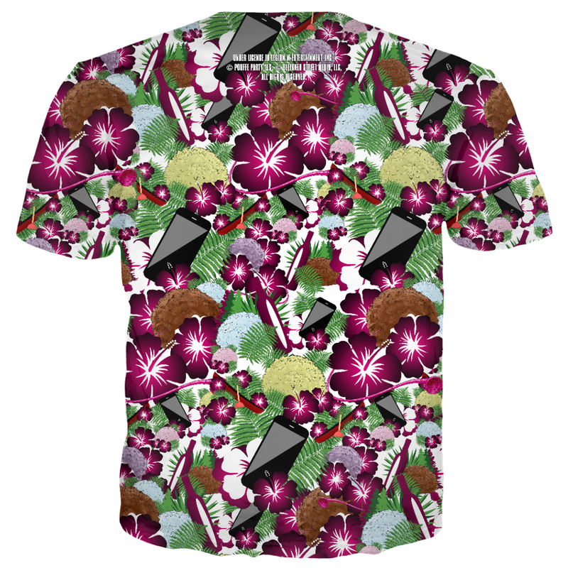 Save Yourselves! - Hawaiian Pouffe All Over Print - Tee (PRE-ORDER)