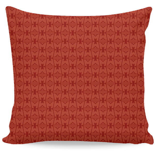 LEGION M - Red Geometric Logo Pattern - Throw Pillow (PRE-ORDER)