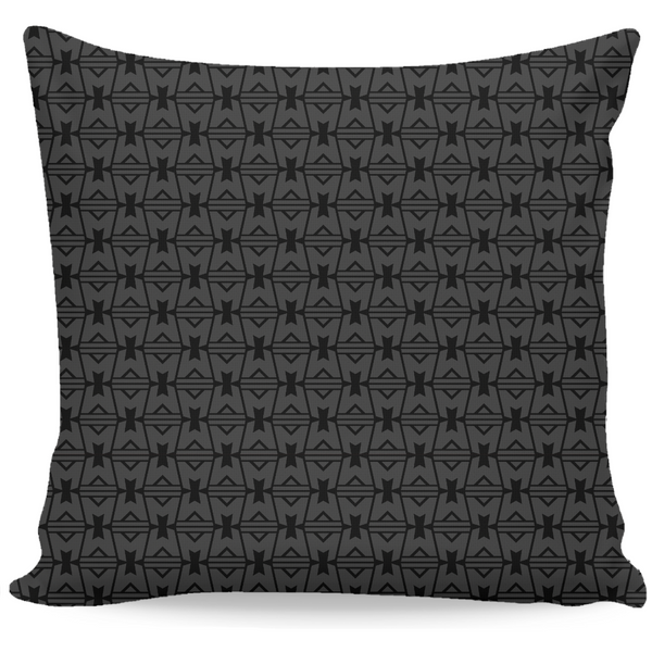 LEGION M - Geometric Logo Pattern Black - Throw Pillow (PRE-ORDER)