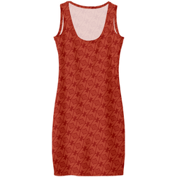 LEGION M - M ICON GEOMETRIC PATTERN RED TONAL - AOP DRESS (PRE-ORDER)